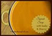 Butternut Squash soup with leeks and sherry
