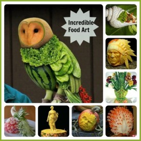 Food art and Food Carving