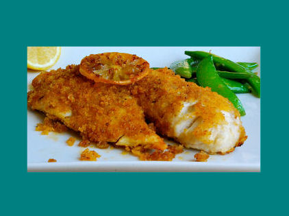 Baked cod in panko bread crumbs is a healthy alternative for Panko fried fish