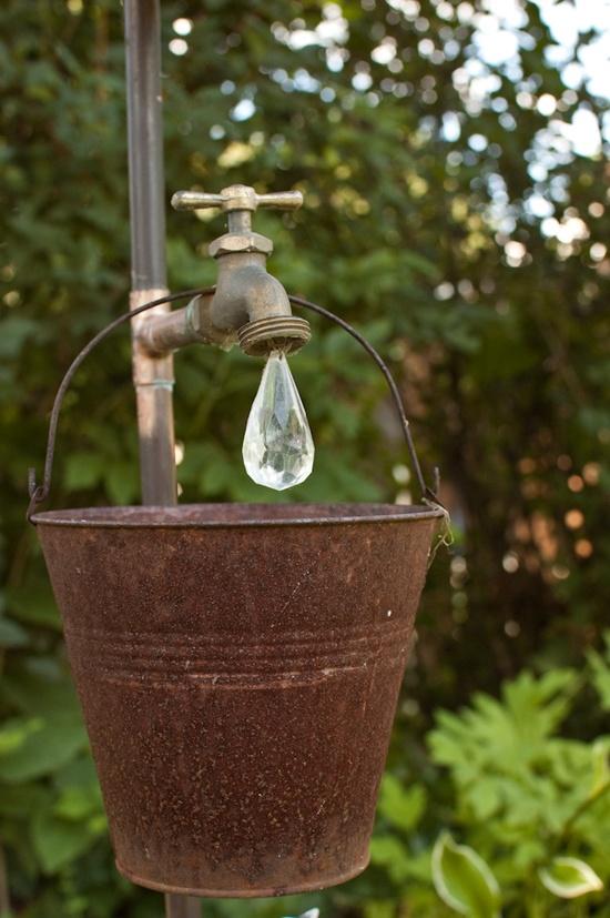 creative gardeing ideas rustic pail
