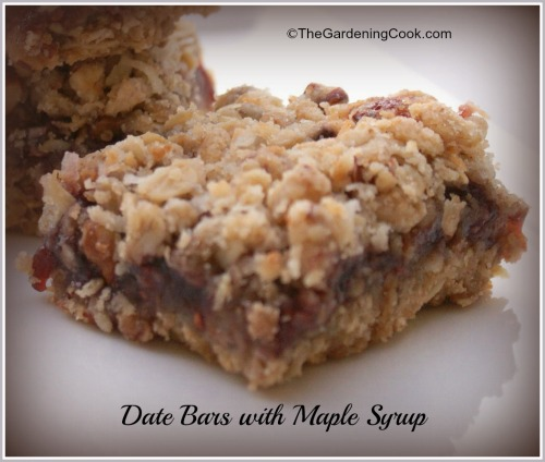 Date bars with maple syrup