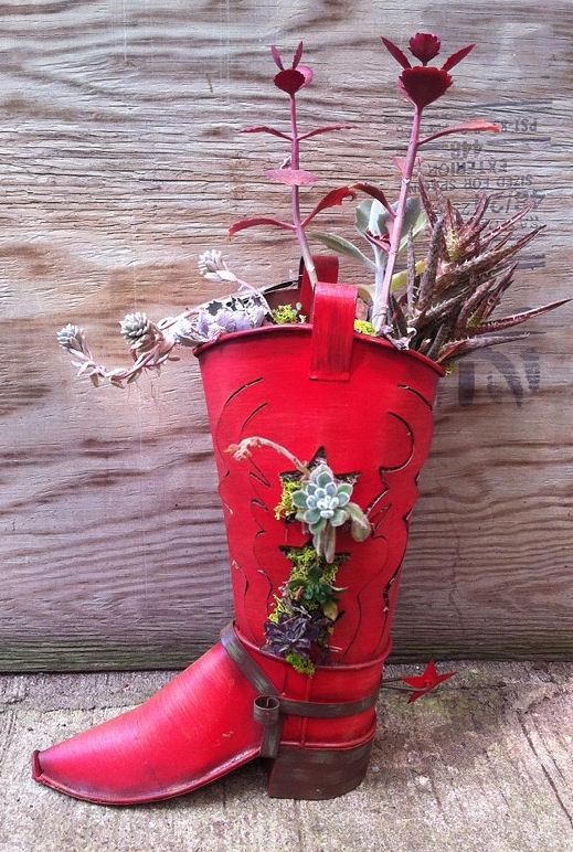 creative boot planter
