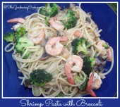 shrimp pasta with broccoli and mushrooms