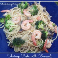 shrimp pasta with broccoli and mushrooms