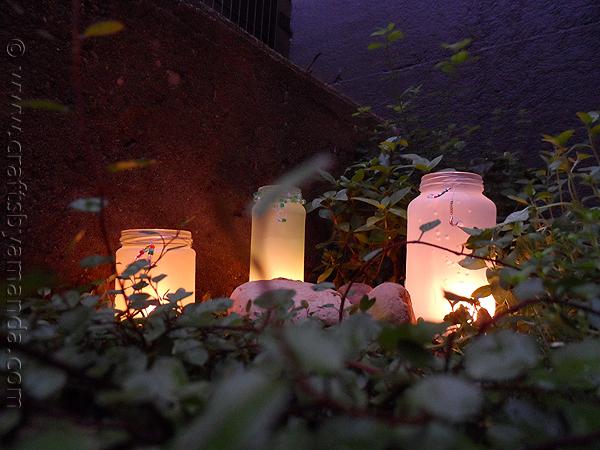 beaded frost luminaries
