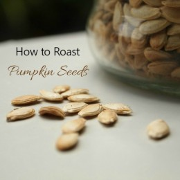 How to roast pumpkin seeds for a healthy snack.