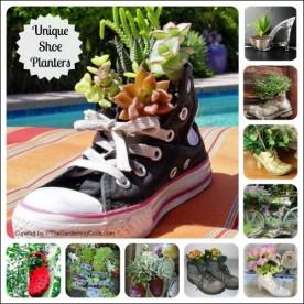 Great selection of unique shoe planters