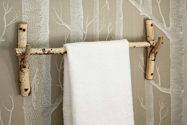 rustic towel bar