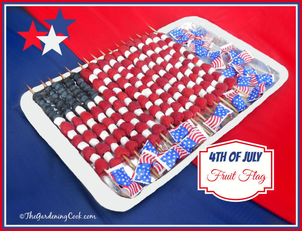 Patriotic Fruit Flag platter
