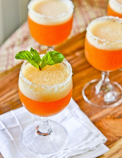 Peach Champagne Cocktail