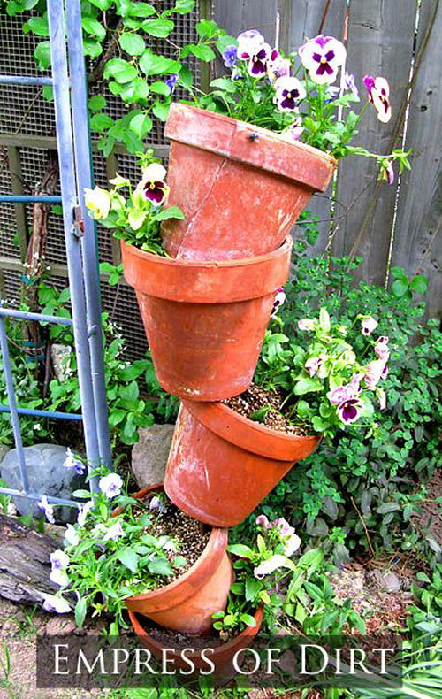 Topsy turvy planter tutorial