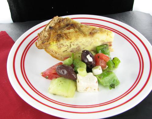 Basic cheese quiche