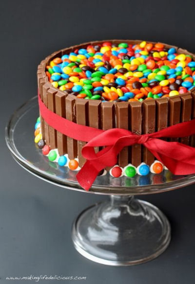Easy M & M Cake