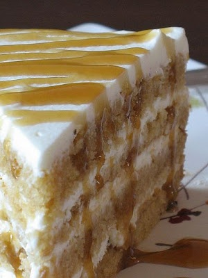 Butterscotch mascarpone cake