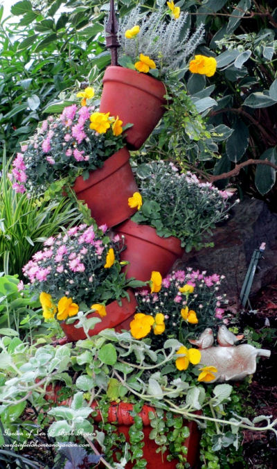Fabulous tipsy pot planter