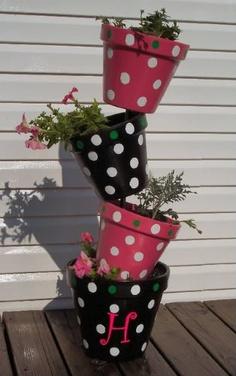 topsy turvy planter polka dot