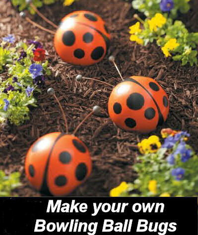 DIY Bowling Ball LadyBugs