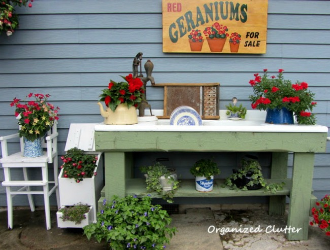 Potting bench from Organized Clutter