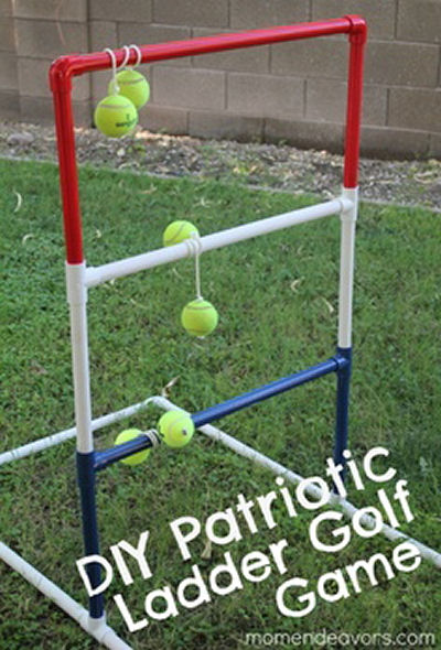 DIY Patriotic Ladder Game