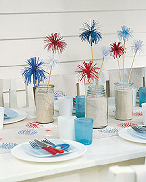 Festive Fourth of July Tablescape