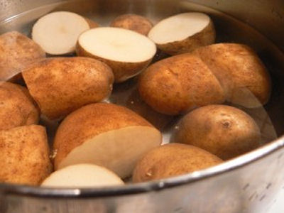 Boiled water from potatoes