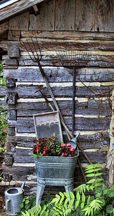Galvanized garden decor so popular the gardening cook Better homes and gardens house painting tool