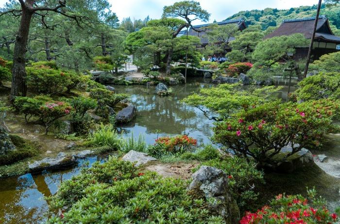 Gingkaku Ji Gardens Kyoto Japan