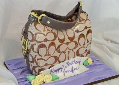 Coach handbag cake