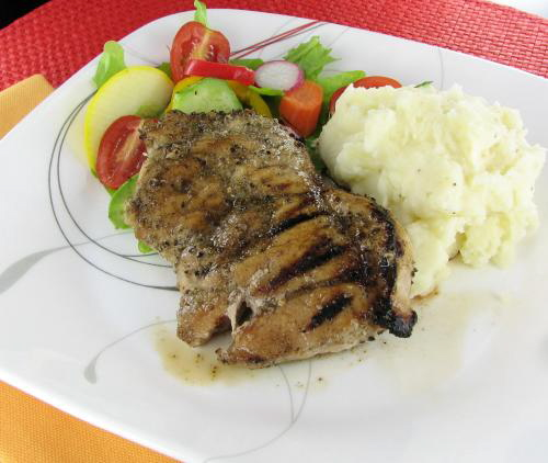 Beer Brined Grilled Pork Chops with Sage Rub - The Gardening Cook