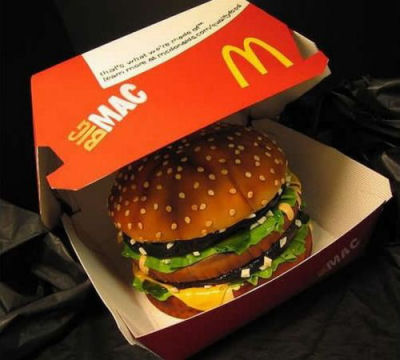 MacDonalds Big Mac Cake