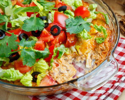 Hot and Cheesy Taco Dip