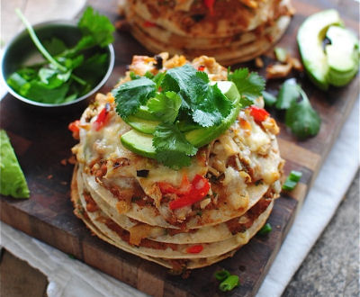 Chicken Taco Stacks