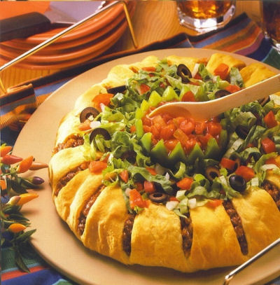 Ground Beef Taco Ring