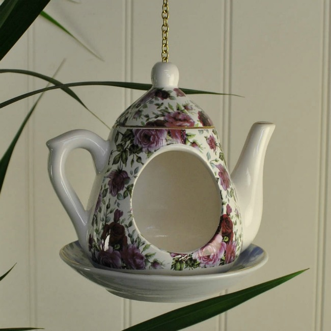 Tea pot bird feeder from Not on the High Street