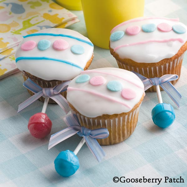 are these baby rattle cupcakes they would make the perfect baby shower ...