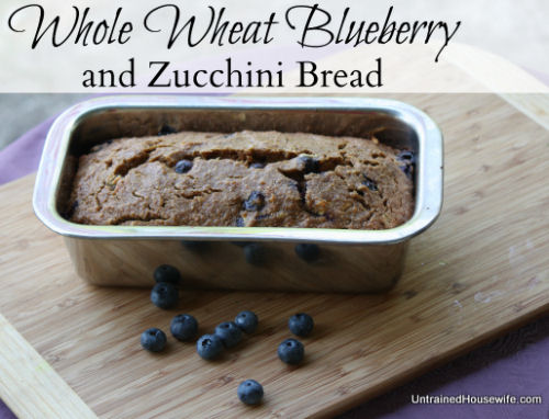 Whole Wheat Blueberry Zucchini Bread - The Gardening Cook