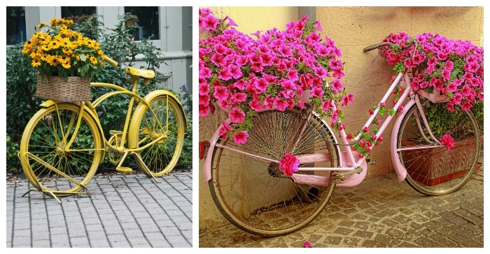Bicycle Planters Add A Whimsical Look To Your Garden