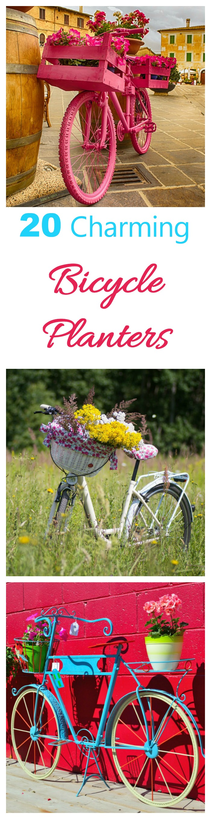 These 20 bicycle planters will add a whimsical look to your garden centers. Get some inspiration for your project here.