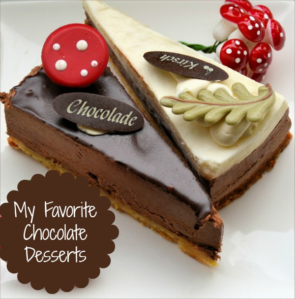 Round up of my favorite chocolate desserts