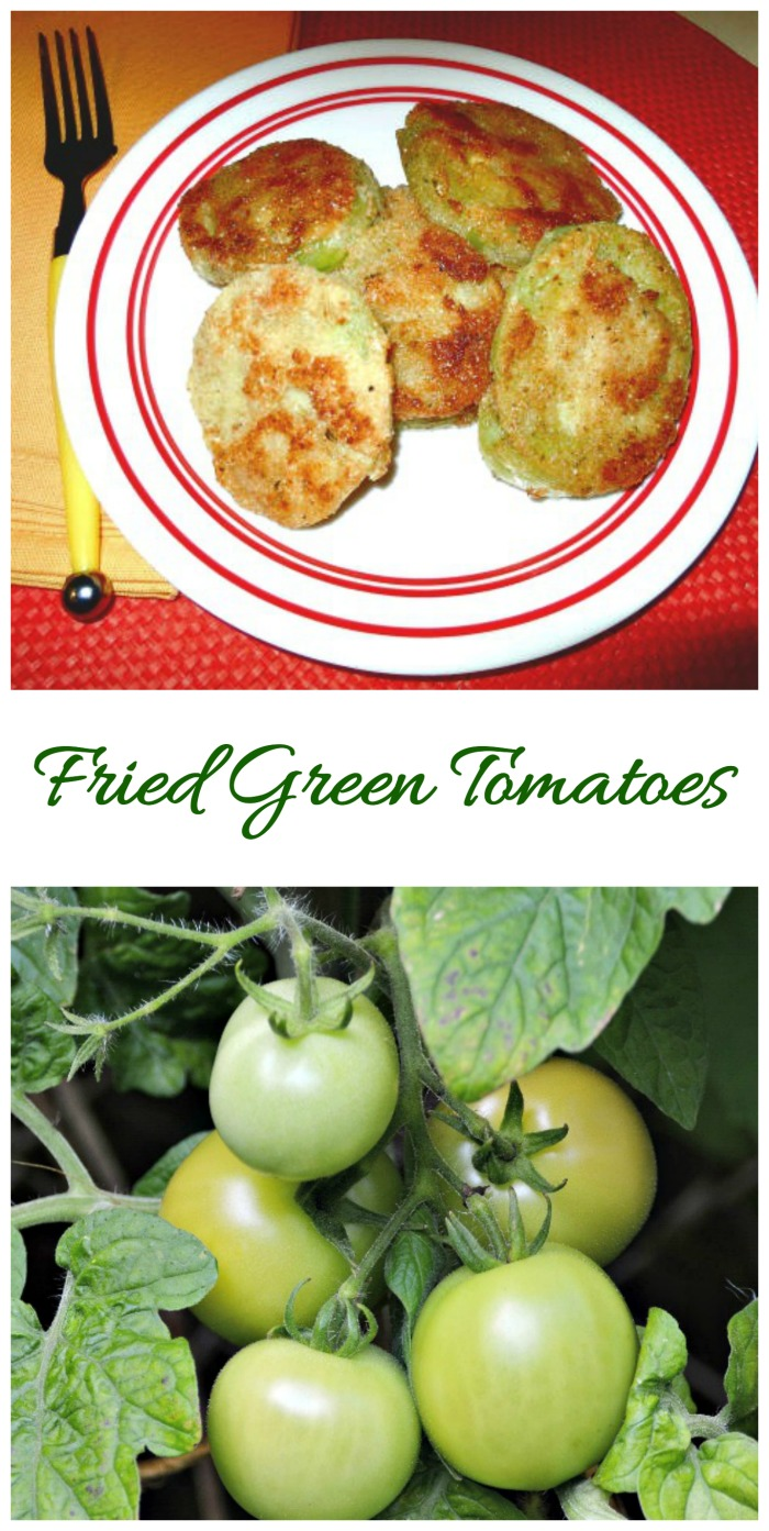 These fried green tomatoes are a great way to use up unripe tomatoes from your garden.