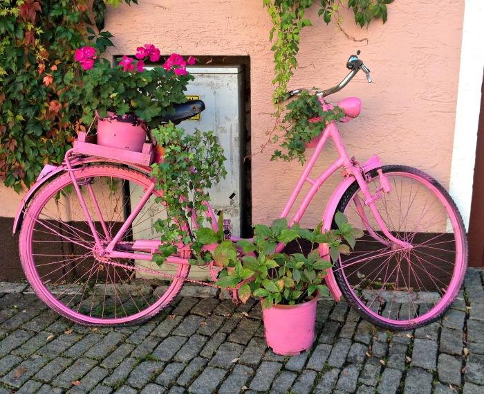 Pink vintage Bicycle Planter
