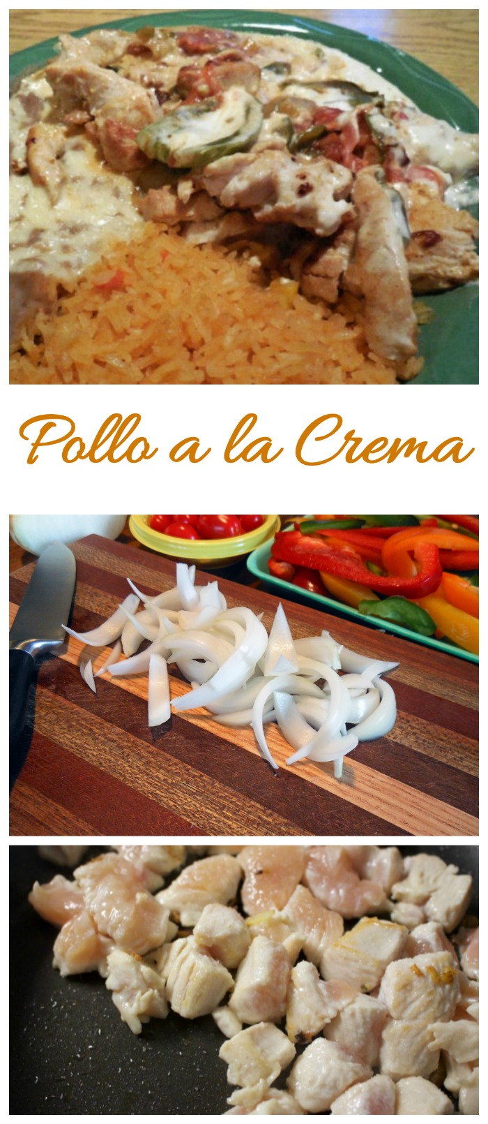 Pollo a la crema is one of my favorite Mexican meals. It is creamy and spicy and super easy to make.