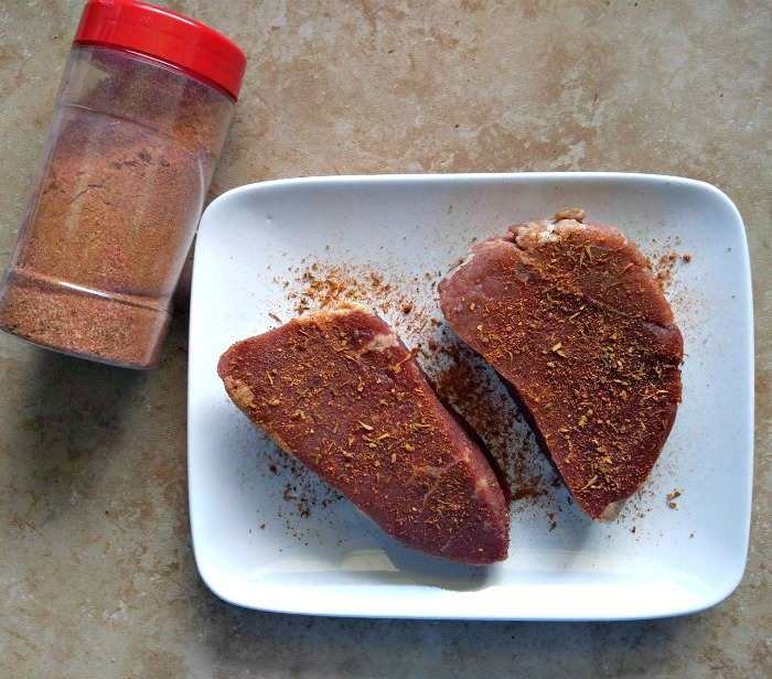 Use the spice rub to season meat before grilling.