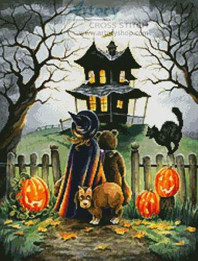 Small Halloween Cross Stitch Patterns Halloween Cross Stitch