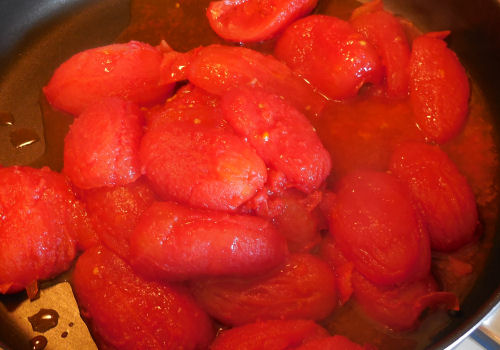 Roasted tomatoes ready for a sauce
