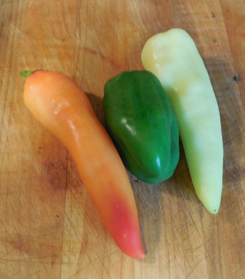 three types of peppers
