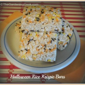 Halloween Rice Krispie Bars