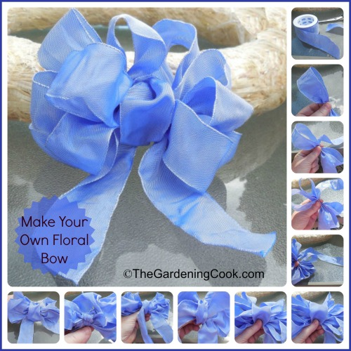 Make your own Floral Bow - Step by step photo tutorial