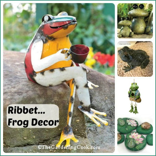 Frog decor items had a great whimsical touch to your garden. See some creative ideas at thegardeningcook.com