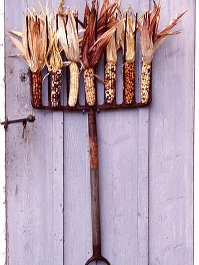Indian corn Pitchfork DIY
